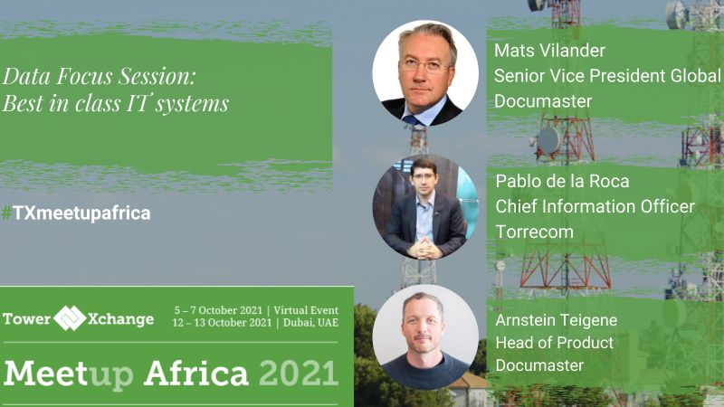 Documaster is proud to participate in the TowerXchange Africa Meetup 2021